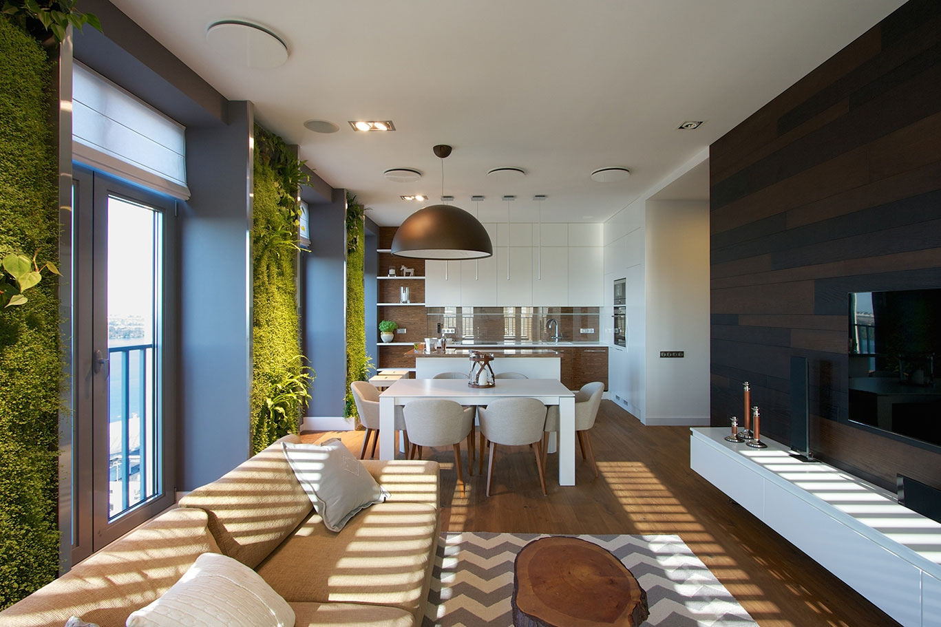 Modern Apartment Design Green Walls By Svoya