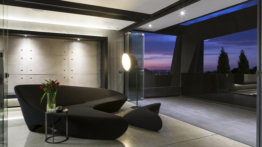 Black furniture in Kloof Road House