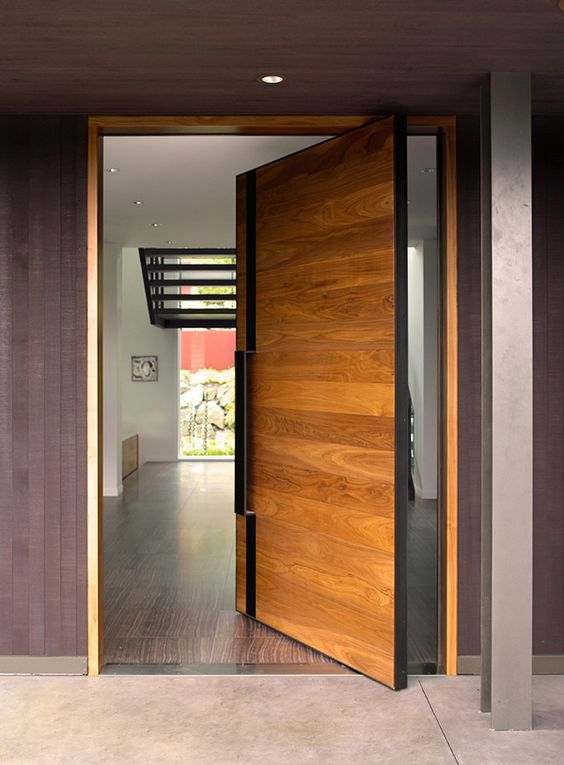 Door designs 40 modern doors perfect for every home Puerta corrediza externa