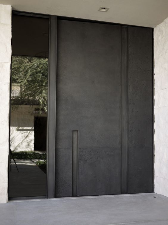 Door designs 40 modern doors perfect for every home for Contemporary house door designs