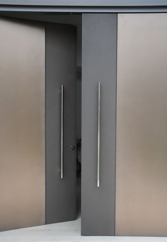 Door designs 40 modern doors perfect for every home for Main two door designs