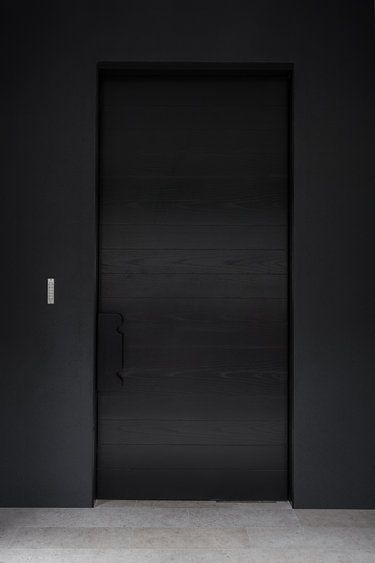 all black modern doors