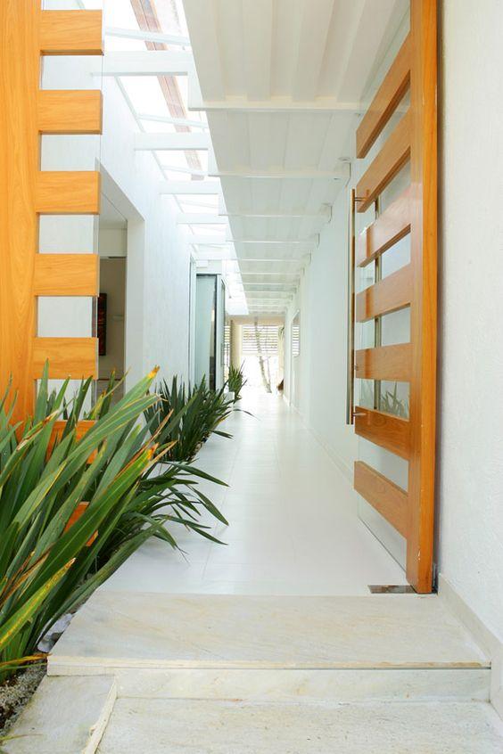 open wooden doors