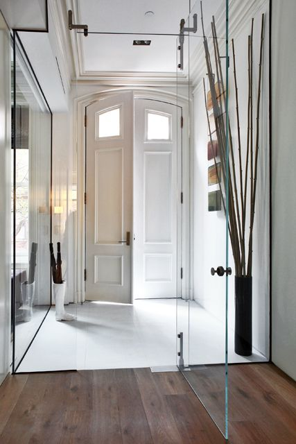 thin glass indoor doors