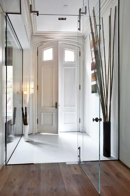 Thin Glass Indoor Doors