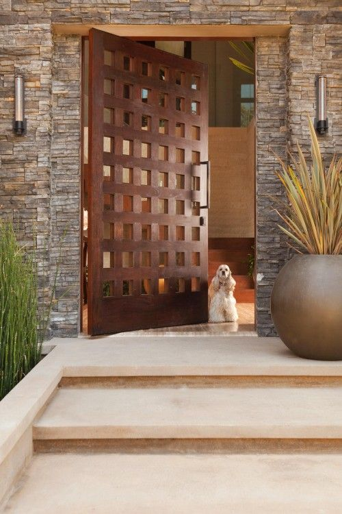 massive wooden doors