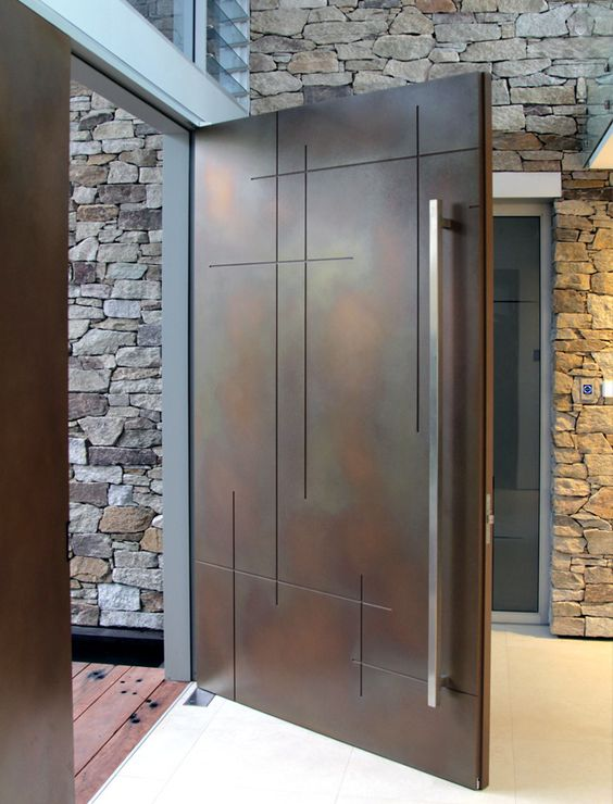 Modern Exterior Metal Doors door designs: 40 modern doors perfect for every home