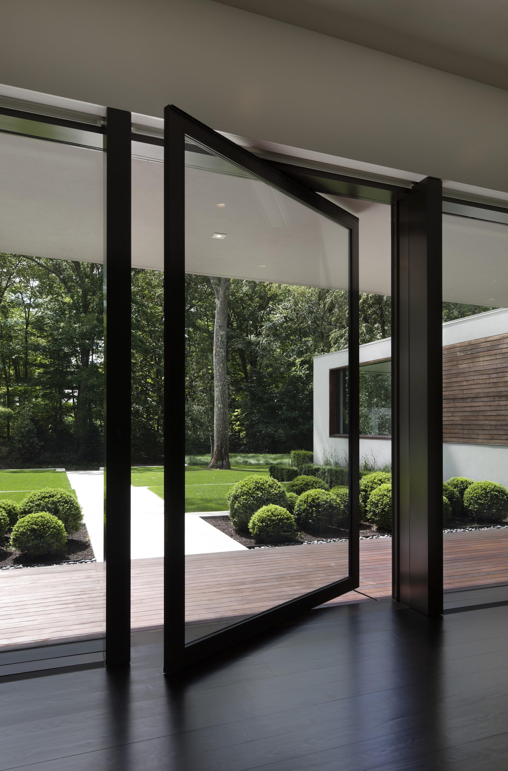 thin glass doors