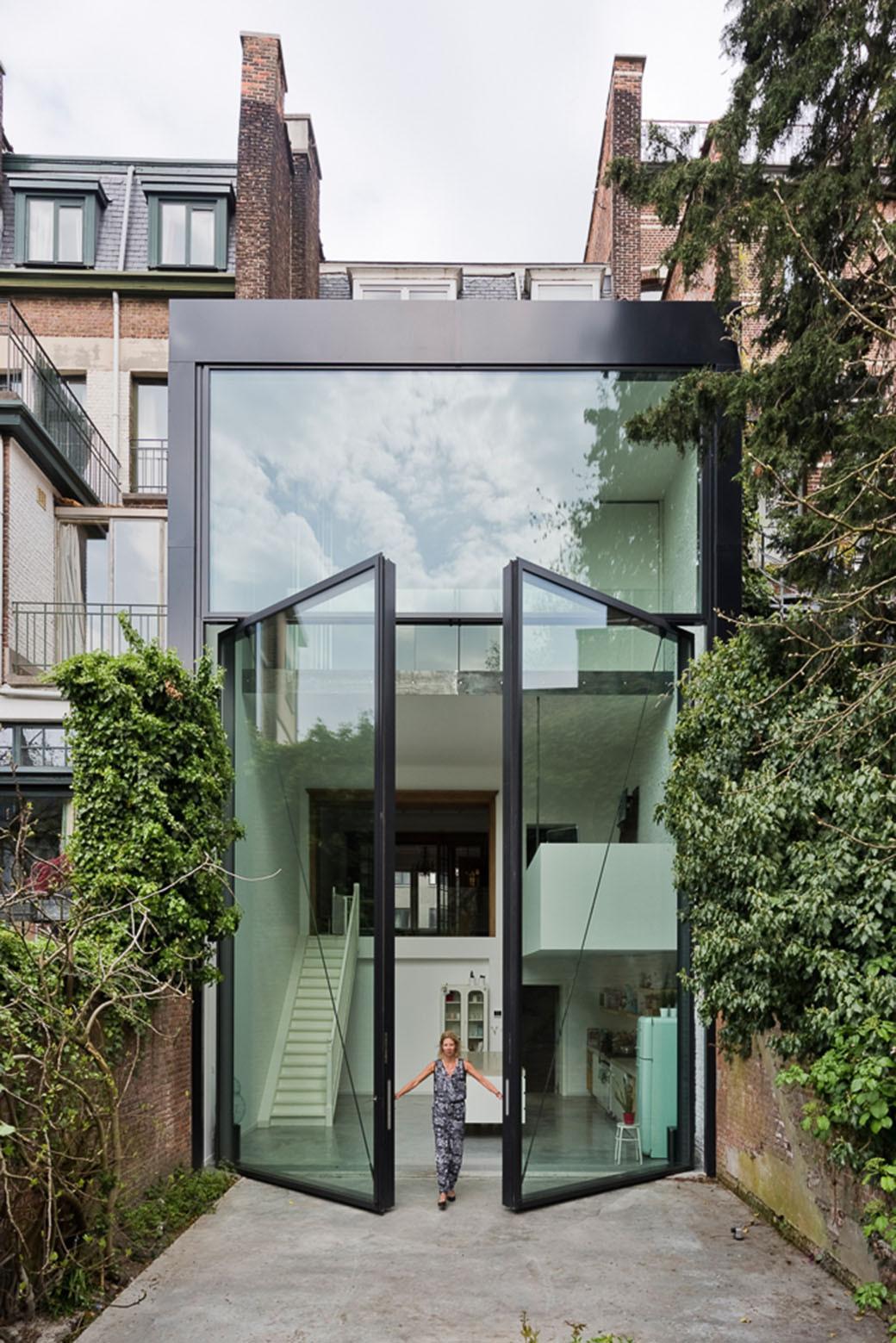 large glass doors
