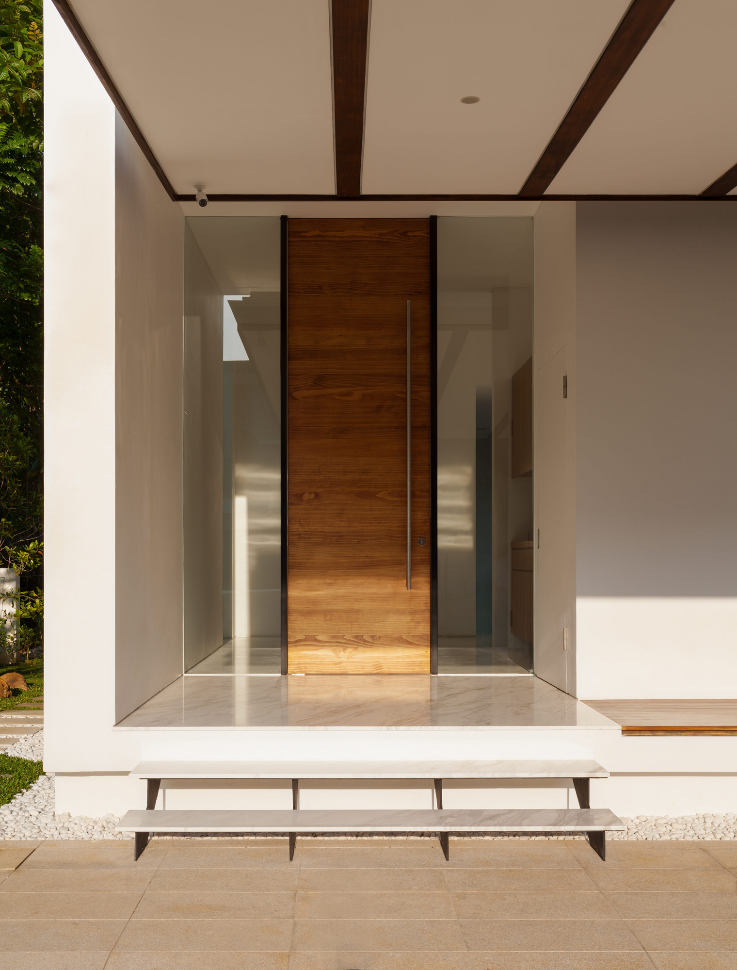 modern wood and glass doors