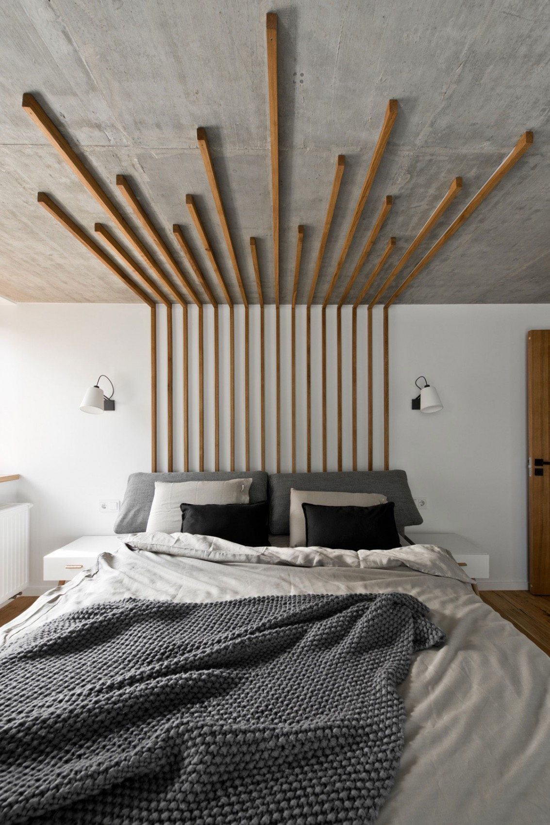 Wooden ceiling lights by InArch