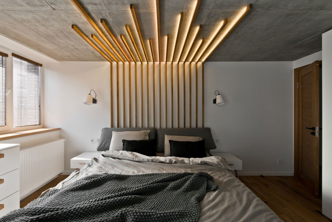Scandinavian interior design in a beautiful small apartment architecture beast - Bed plafond ...