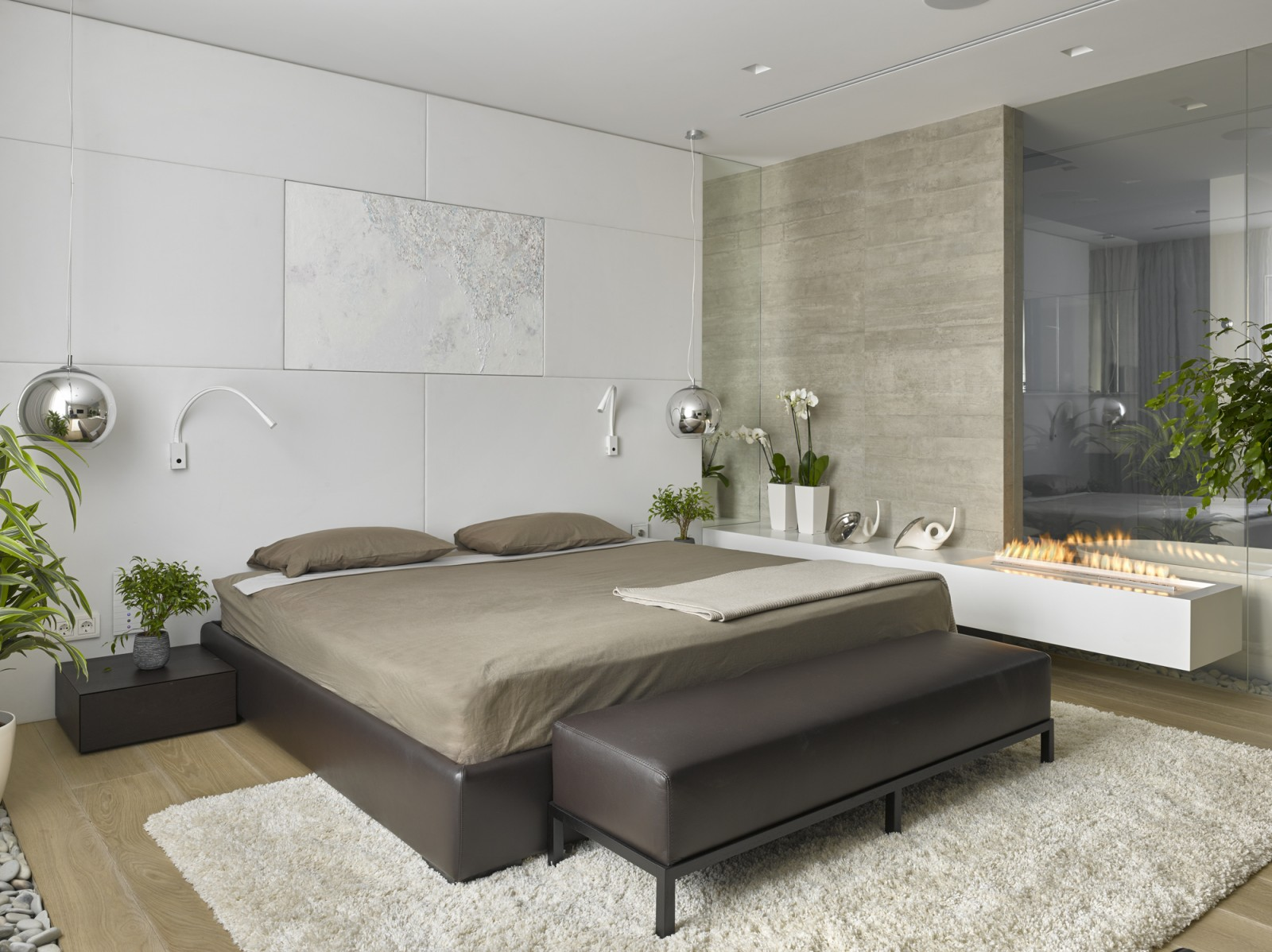 Elegant Modern Bedroom Idea From Alexandra Fedorova
