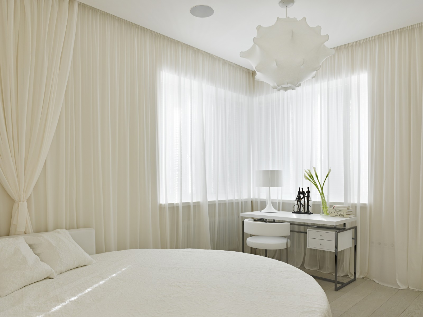 white bedroom ideas. Beautiful small white bedroom by Alexandra Fedorova 20 Small Bedroom Ideas That Will Leave You Speechless