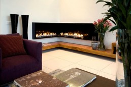 Fireplace in new Mosi residence by Nico van der Meulen Architects