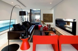 Modern furniture in new Mosi residence by Nico van der Meulen Architects