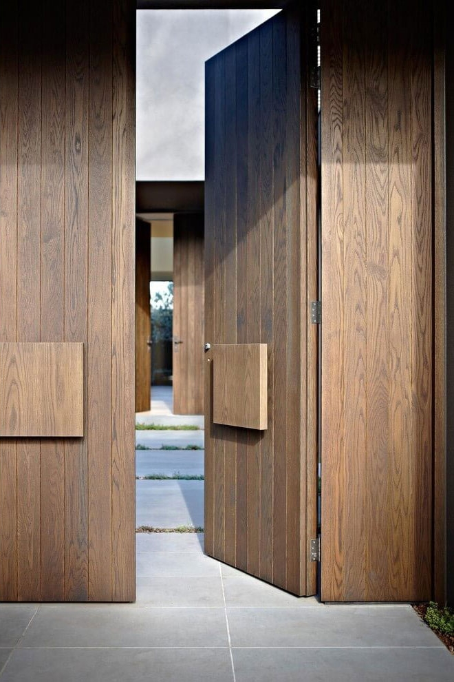 House colors amazing modern facade in brown for Door design and colour