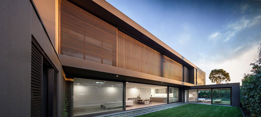 Modern Facade house colors: amazing modern facade in brown - architecture beast