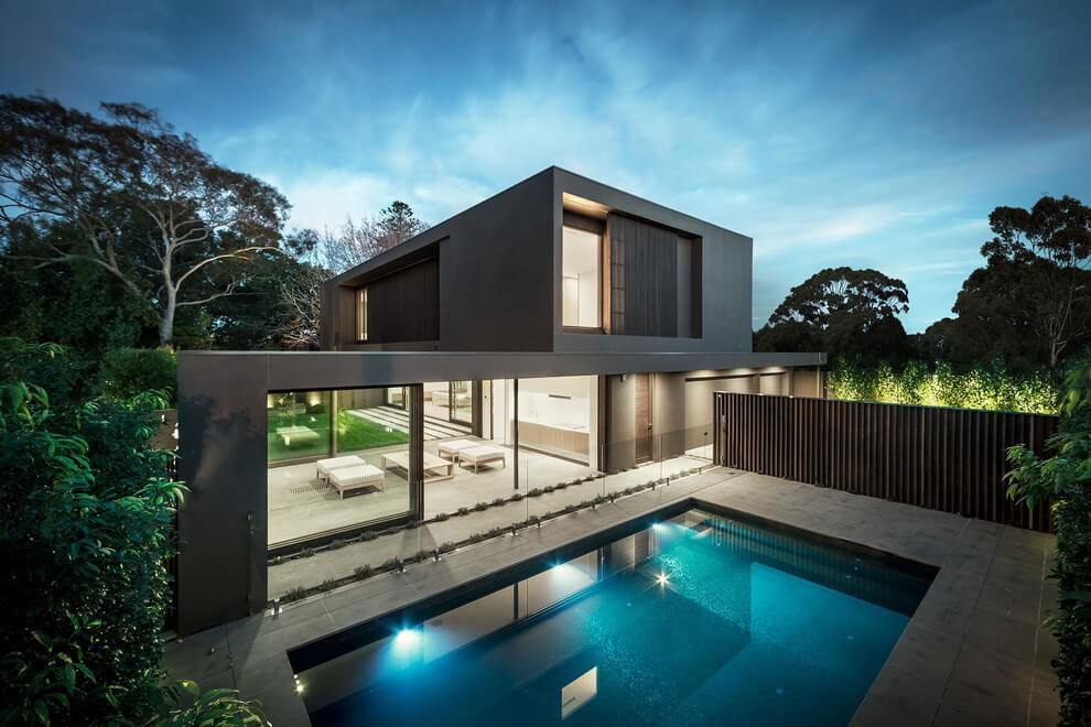 House colors amazing modern facade in brown for Amazing modern houses
