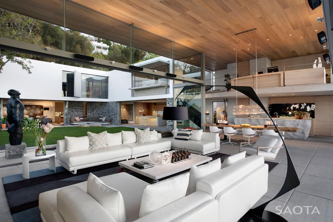 Modern living room design by saota