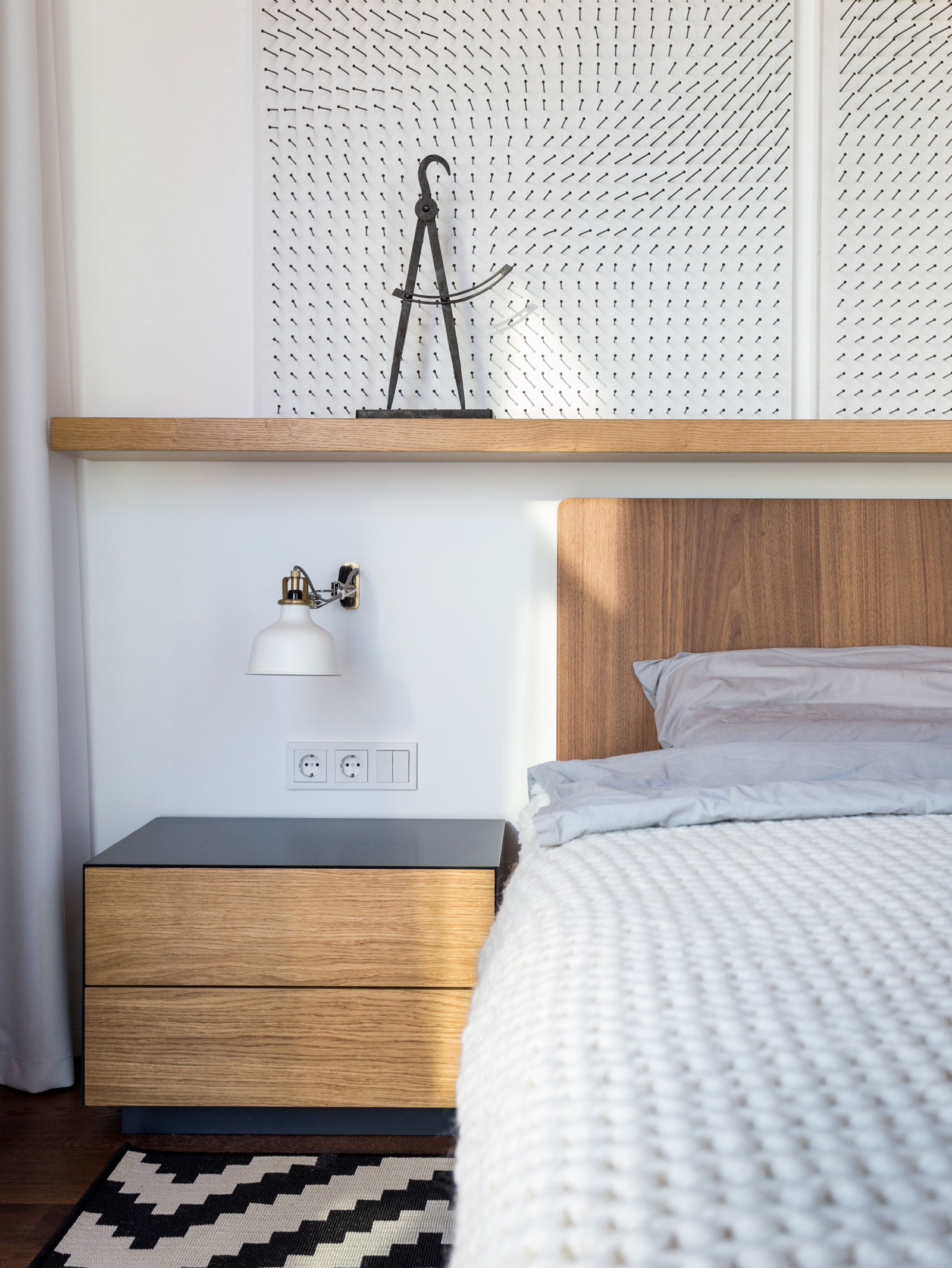 Wooden bedroom furniture by SVOYA Studio