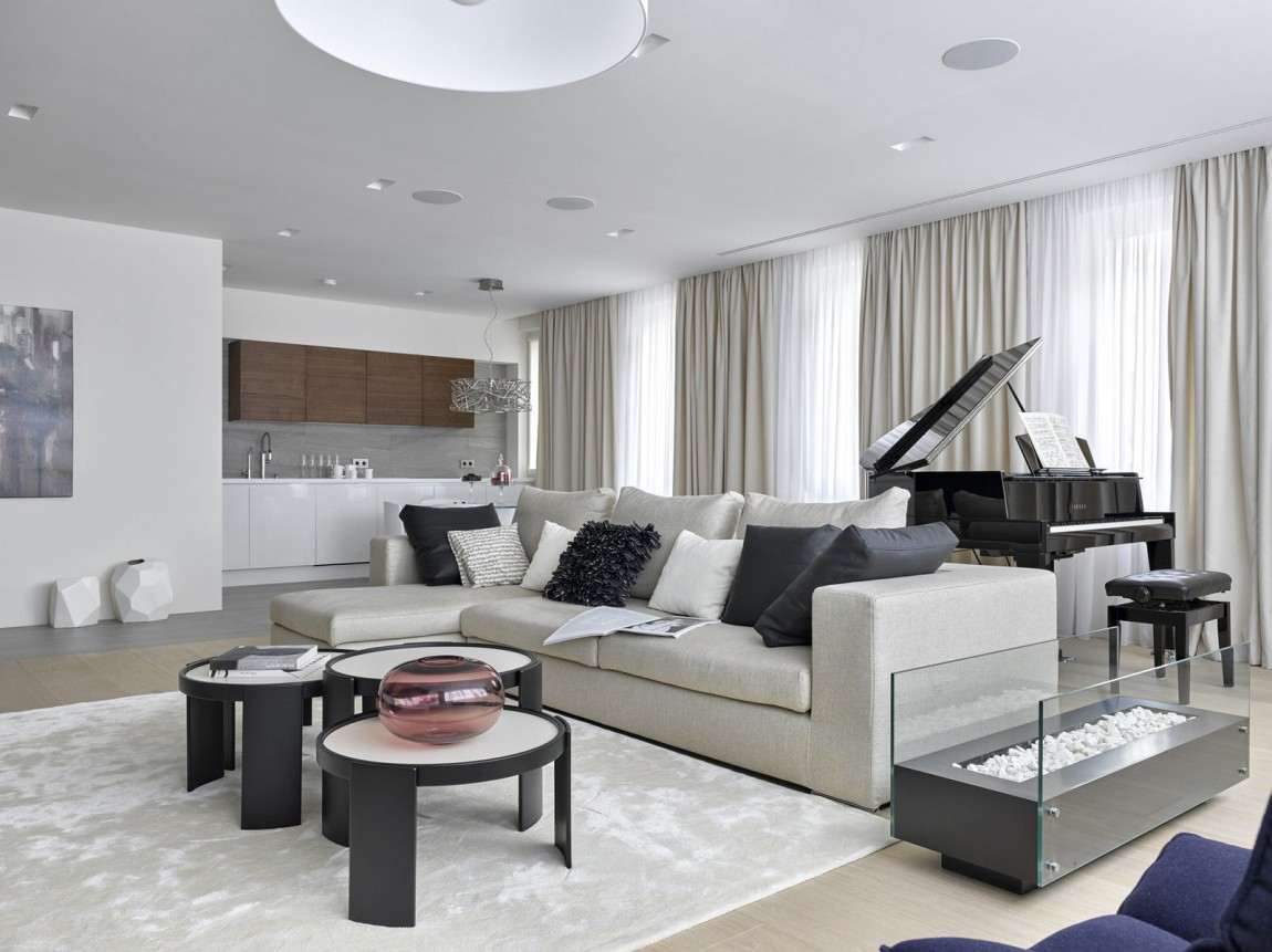 Room Ideas: Luxury Apartment Design By Alexandra Fedorova
