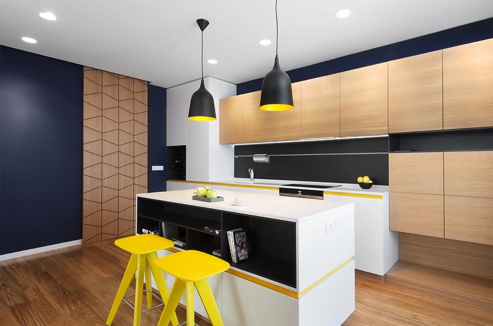 Modern Colorful Kitchen Design By Fimera Design Studio