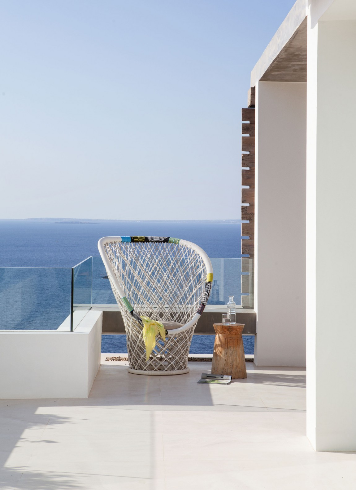 Terrace view from modern villa Roca by SAOTA