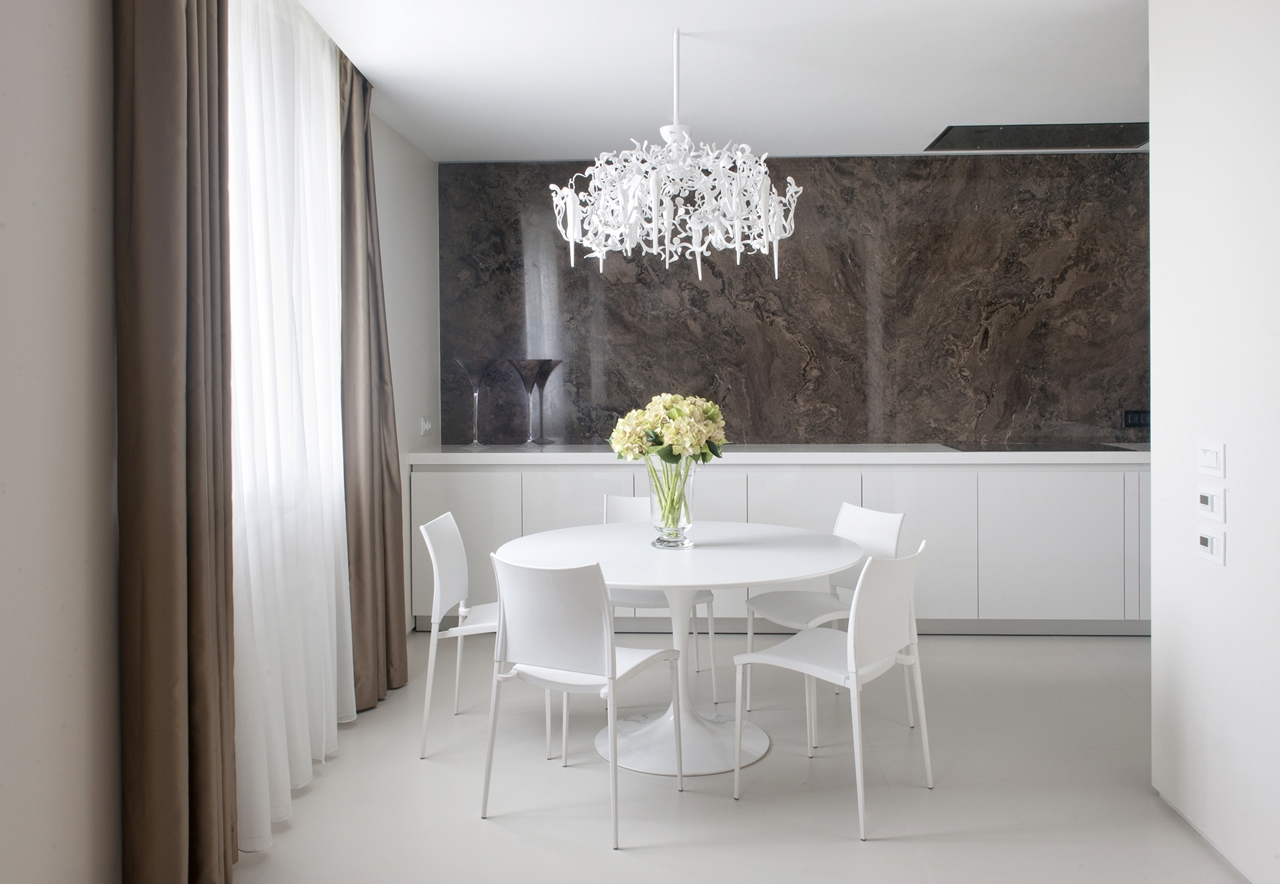 Dining table and apartment decorating ideas by Alexandra Fedorova