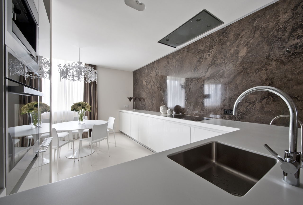 Minimalist kitchen and apartment decorating ideas by Alexandra Fedorova