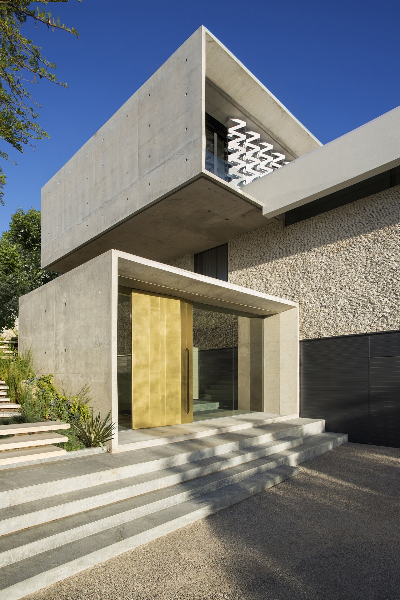 Entrance to the modern home