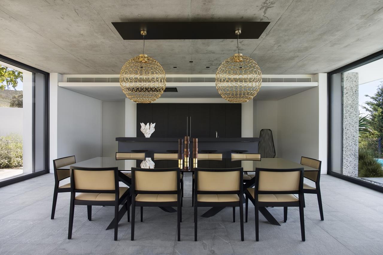 Dining room in the city villa
