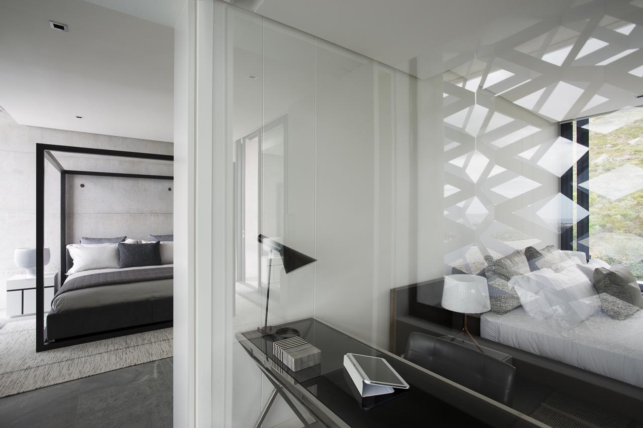 Bedroom interior design in city villa