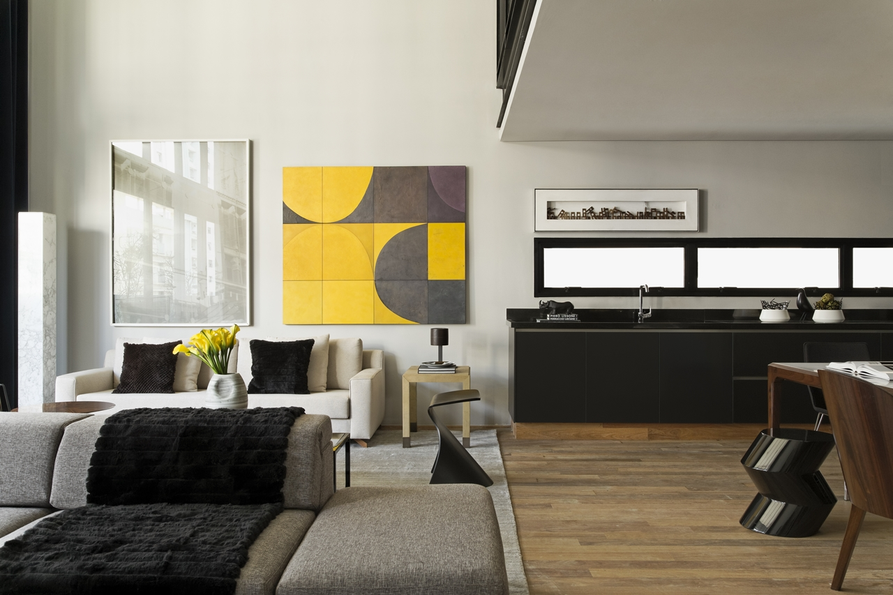 Modern living room in Itacolomi 445 apartment by Diego Revollo