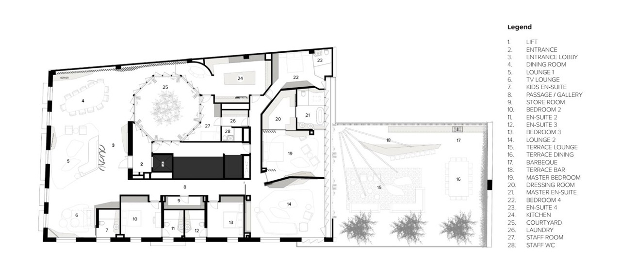 Floor plan of Barcelona apartment by ARRCC