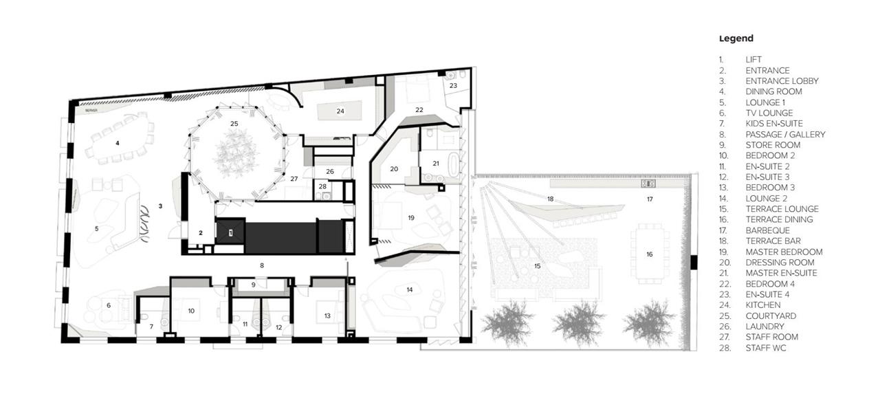 Floor plan of Barcelona apartment