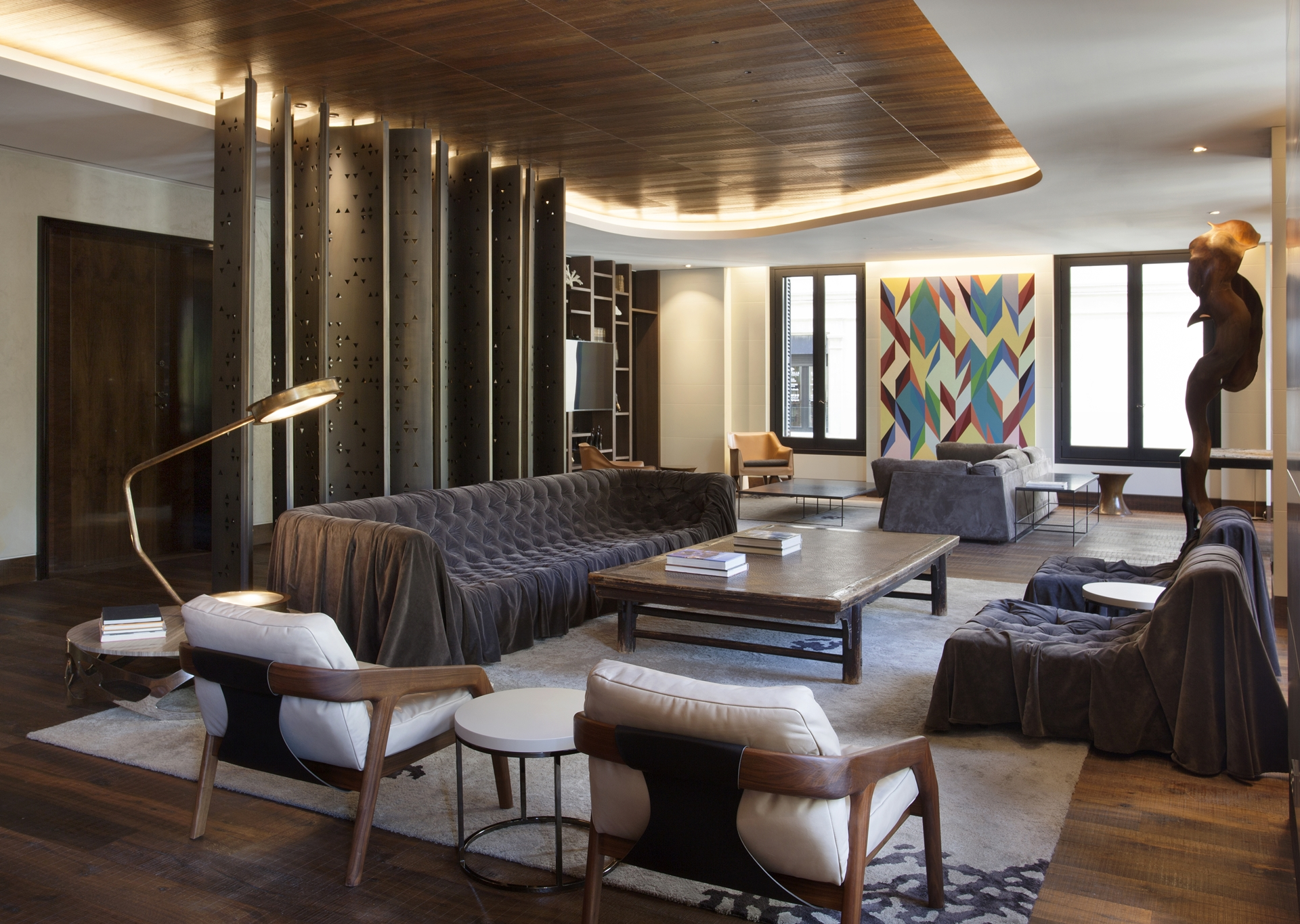 Wood In Interior Design Afro Contemporary Apartment By