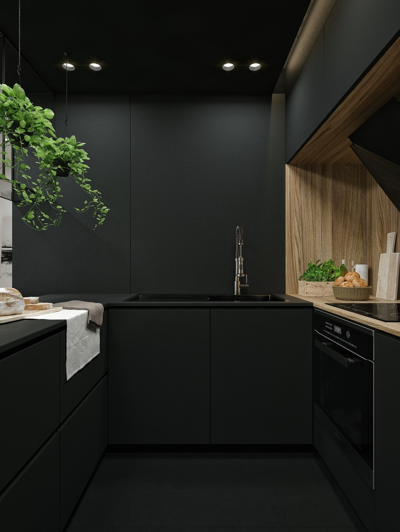 Black Kitchen By Id White