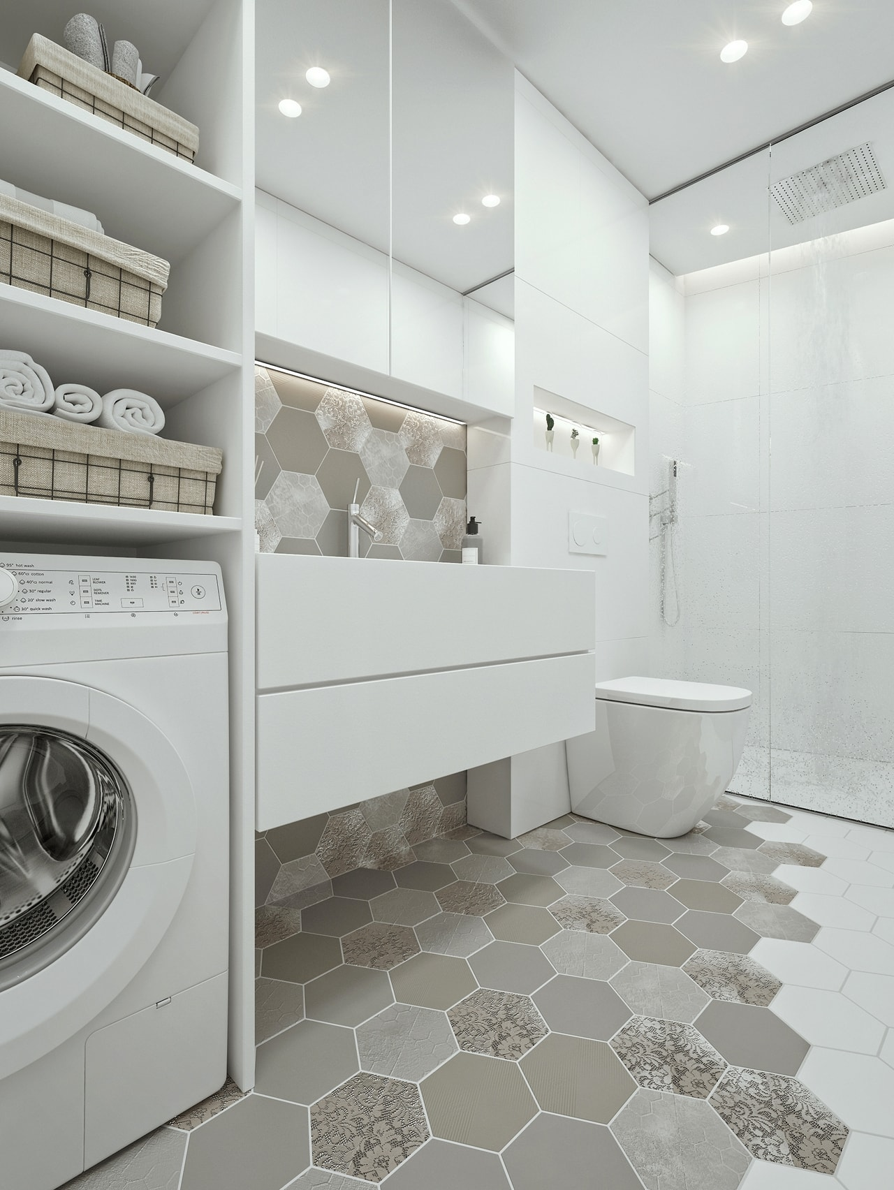 White bathroom furniture by ID White