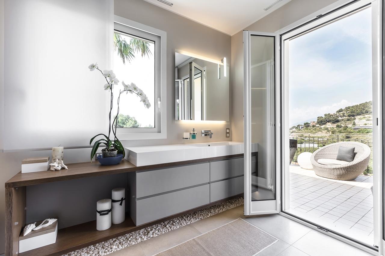 Phòng tắm thanh lịch của NG Studio