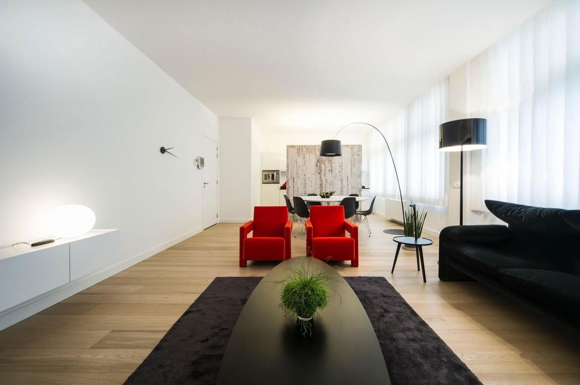 Marvelous Minimalist Living Room Furniture In Minimalist Apartment By Filip Deslee
