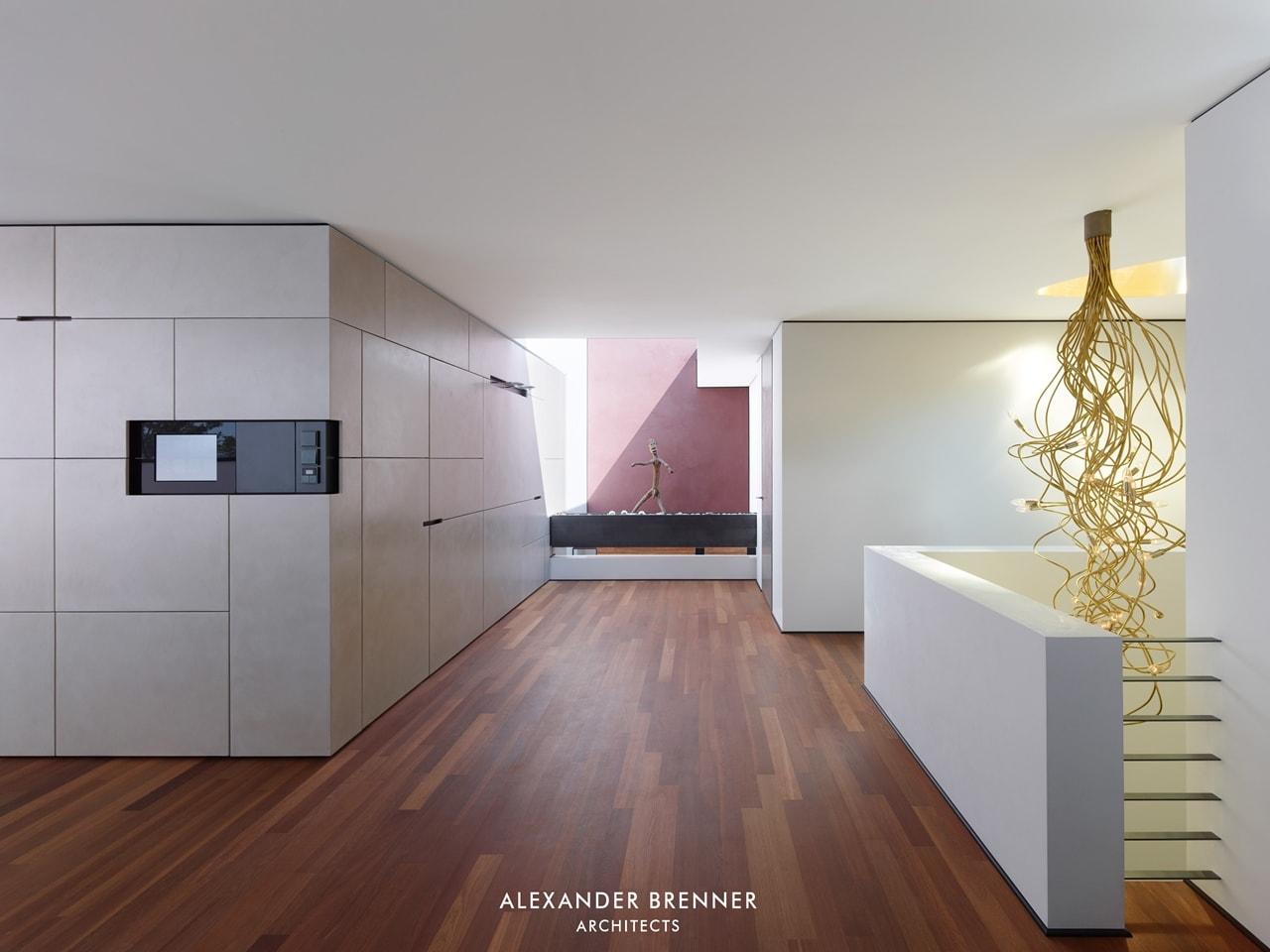 Interior of modern villa by Alexander Brenner