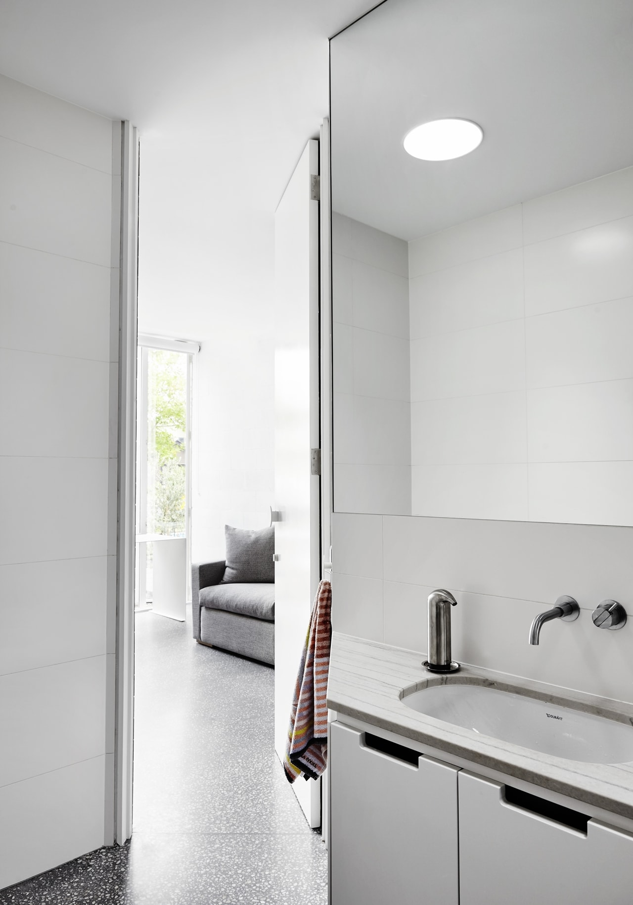 White contemporary bathroom by Austin Maynard Architects
