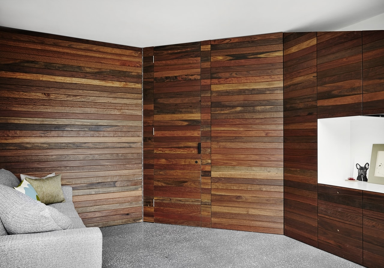 Wooden wall by austin maynard architects