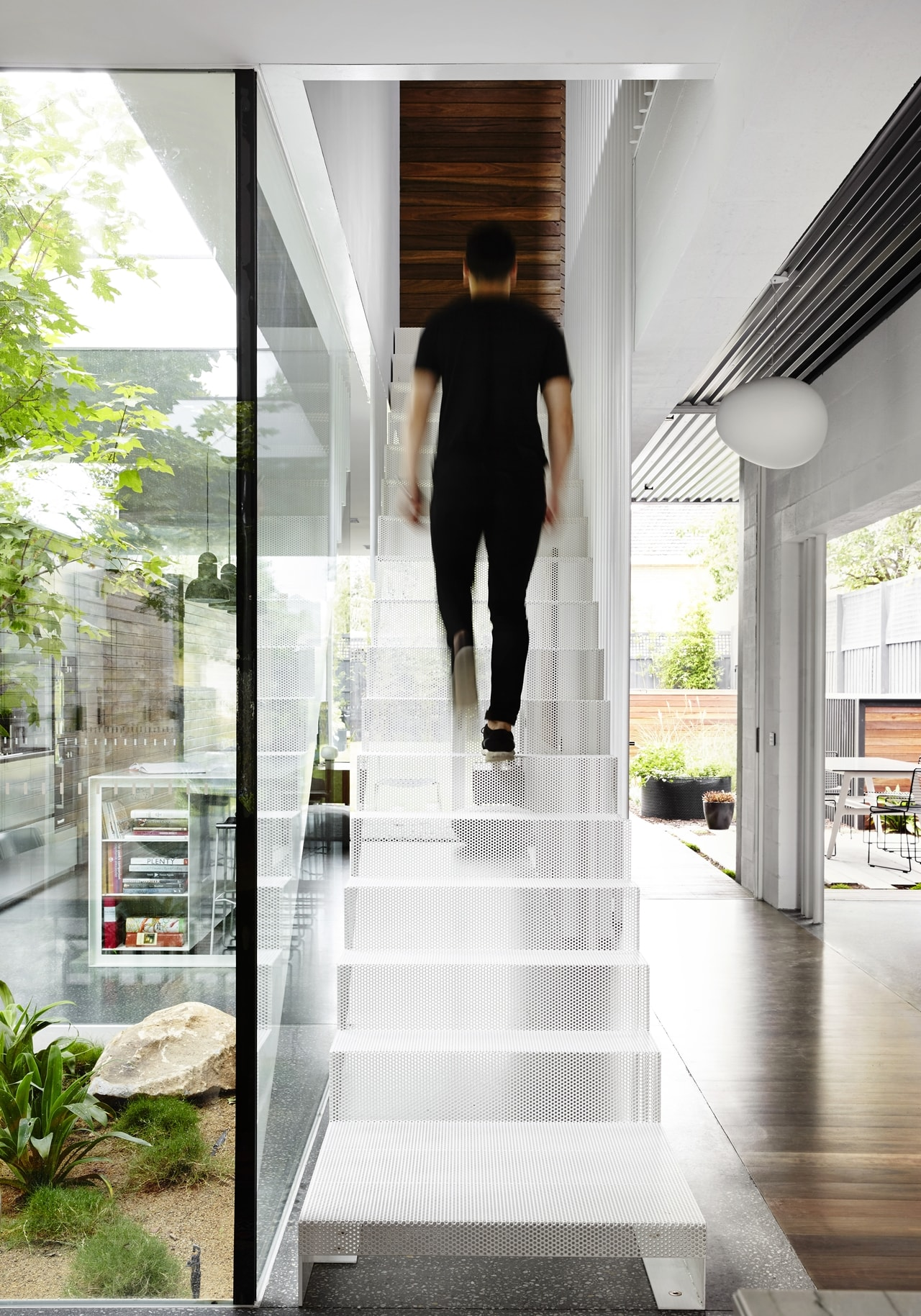 Narrow staircase by Austin Maynard Architects