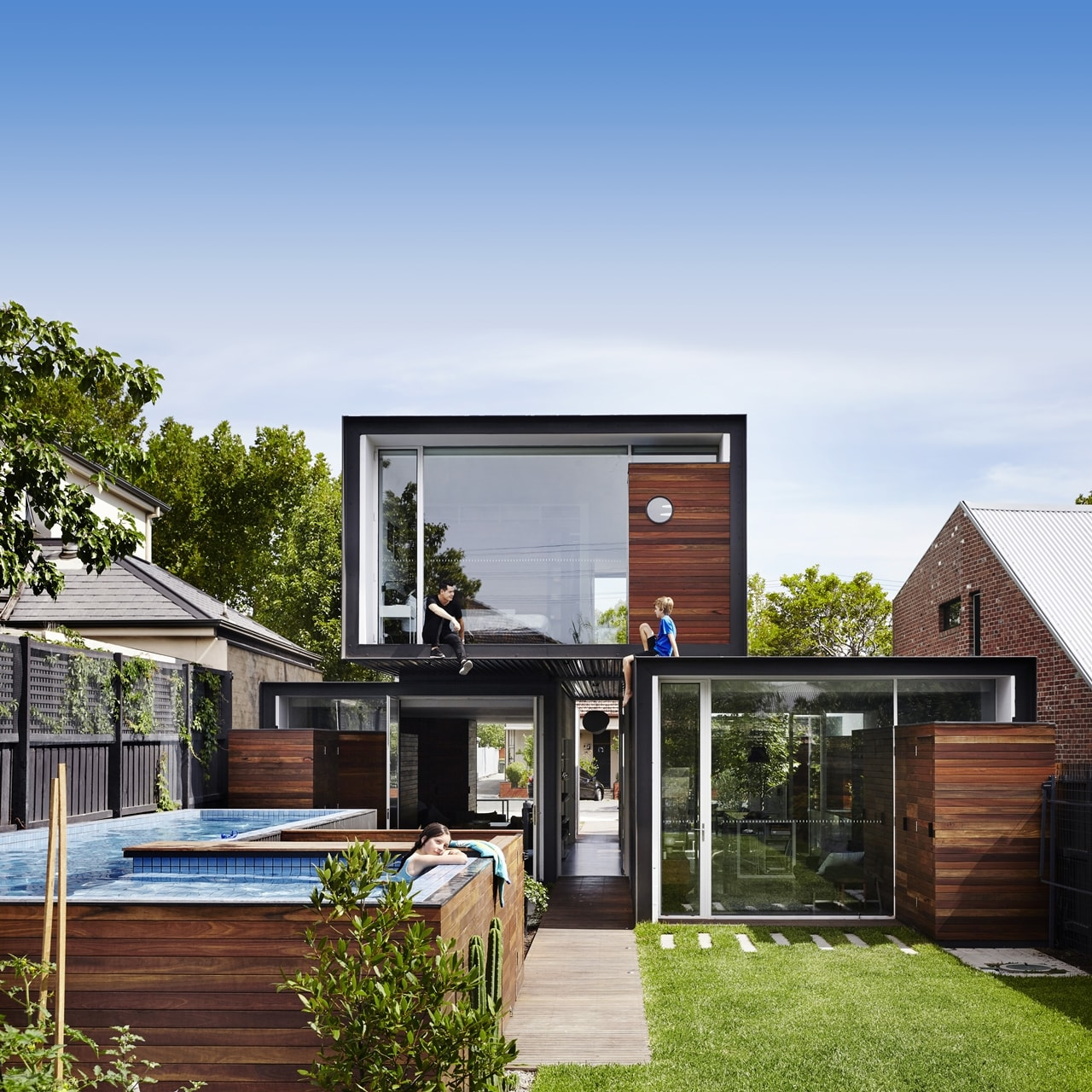 Top 50 Modern House Designs Ever Built: Open House Design: Contemporary Home Connected To The