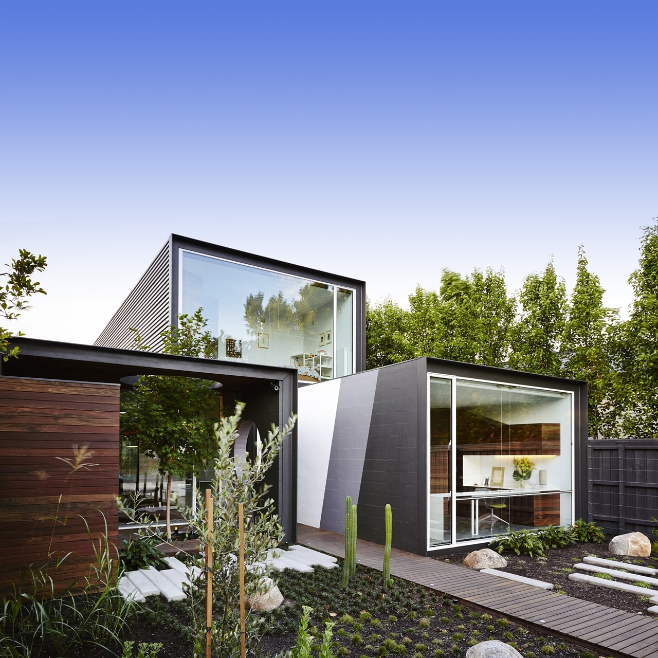 Facade on open house by Austin Maynard Architects