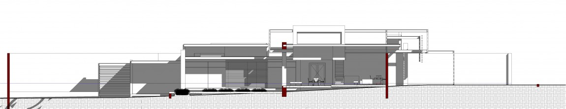 Front elevation of House Sar by Nico van der Meulen Architects
