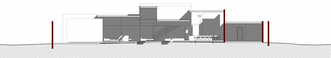 Side elevation of House Sar by Nico van der Meulen Architects