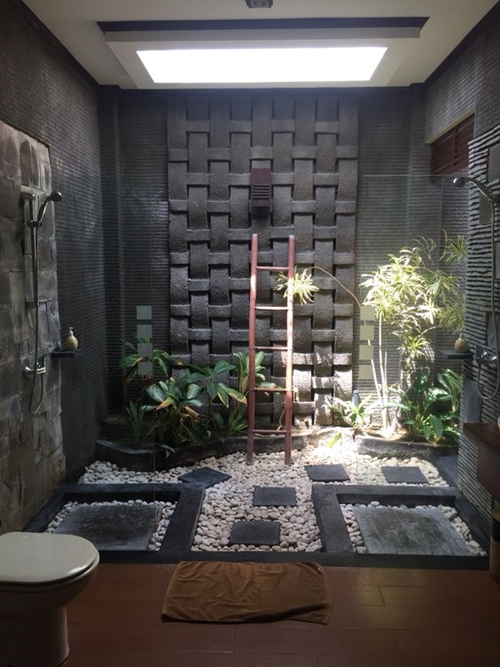 100 walk in shower ideas that will make you wet for Bathroom decor nature